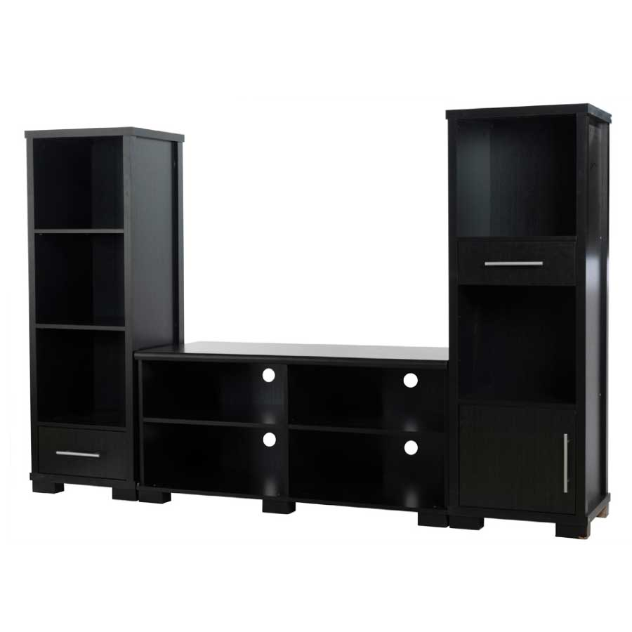 3 piece tv cabinet set dricor furniture. Black Bedroom Furniture Sets. Home Design Ideas